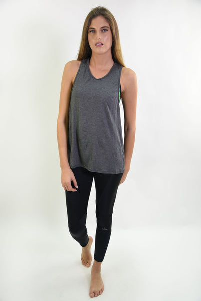 RIO GYM Livia Tank - Dark Grey yoga wear for women