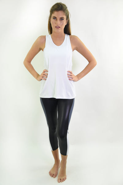 RIO GYM Livia Tank - White yoga wear for women