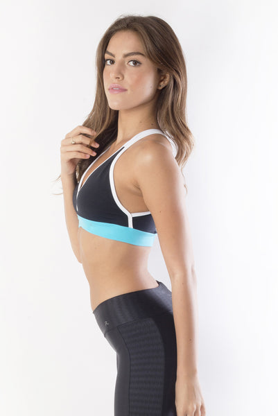 RIO GYM Marbella Cyan Bra yoga wear for women