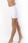 RIO GYM Freedom Shorts - White yoga wear for women