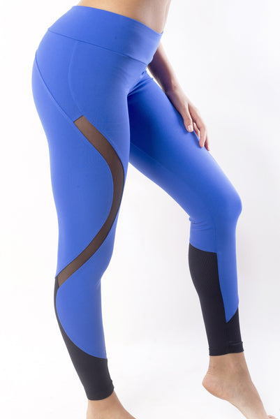 RIO GYM Bella Legging - Medium Blue yoga wear for women