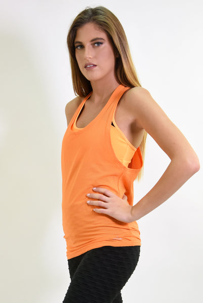 RIO GYM Jessica Tank - Orange yoga wear for women