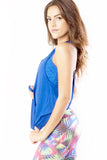 RIO GYM Leticia Tank - Royal Blue yoga wear for women