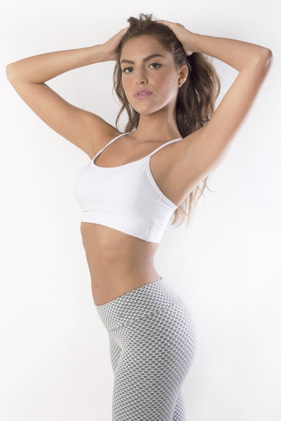 RIO GYM Kenny Bra - White yoga wear for women