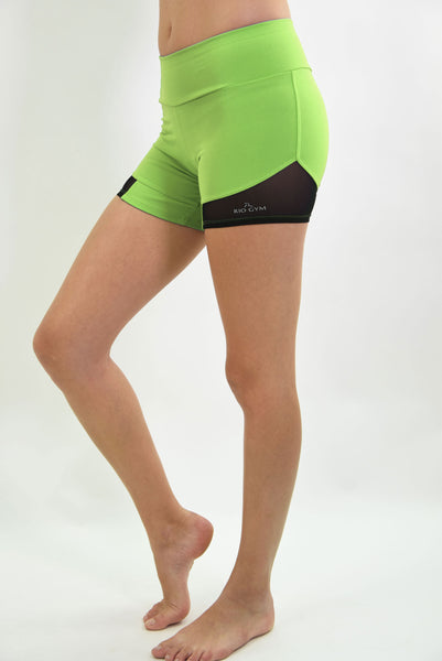 RIO GYM Giovana  Shorts - Green yoga wear for women