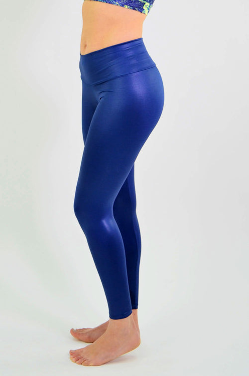 RIO GYM Mara Metallic Navy Legging yoga wear for women