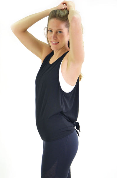 RIO GYM Livia Tank - Black yoga wear for women