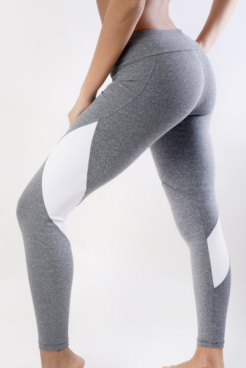 RIO GYM Elegance Legging - Grey yoga wear for women