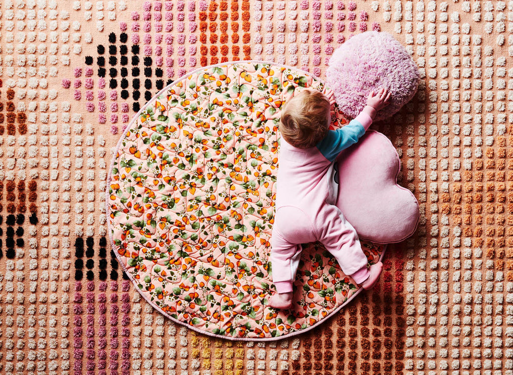 THE PATCH PEACH QUILTED BABY PLAY MAT