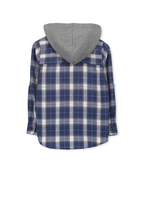 Milky- Hooded Check Shirt