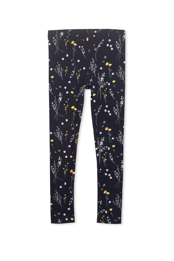 Milky Winter Floral Legging