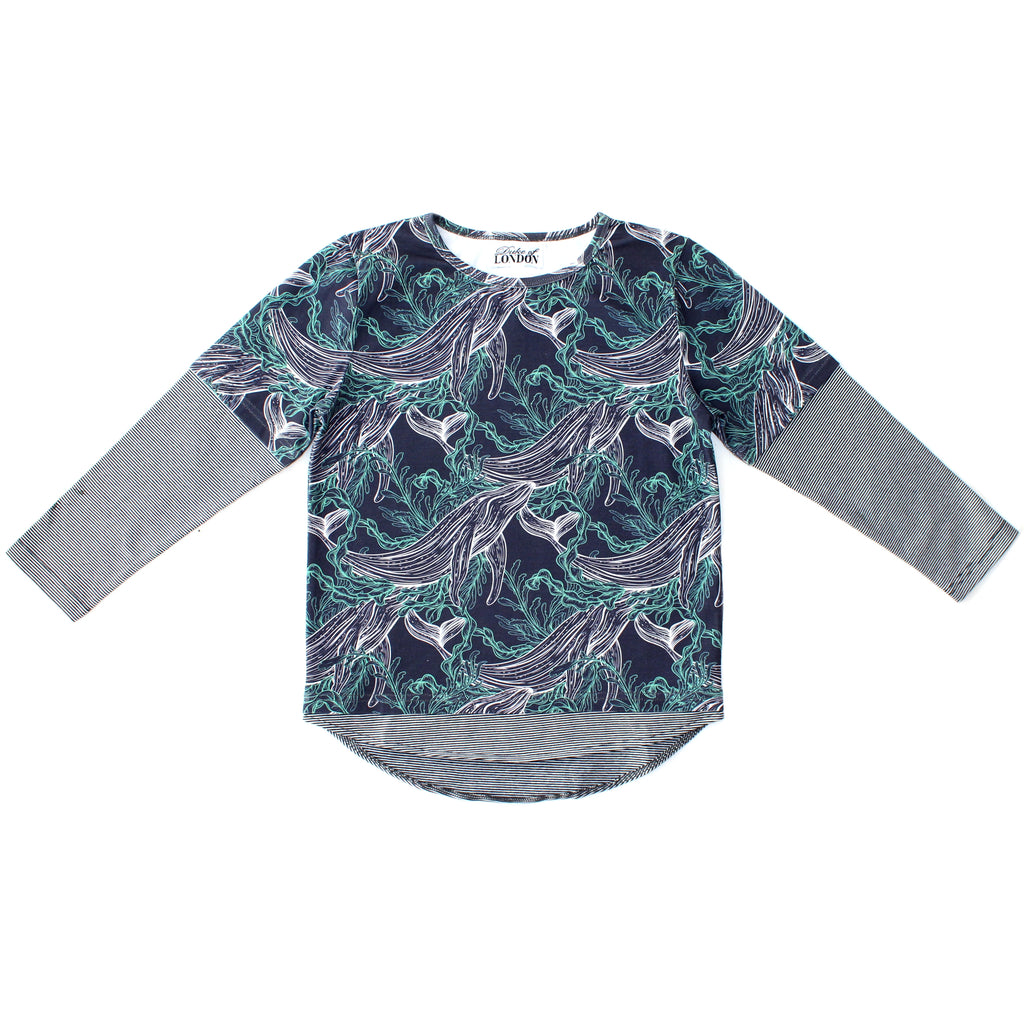 Duke Of London Whale Long Sleeve Tee