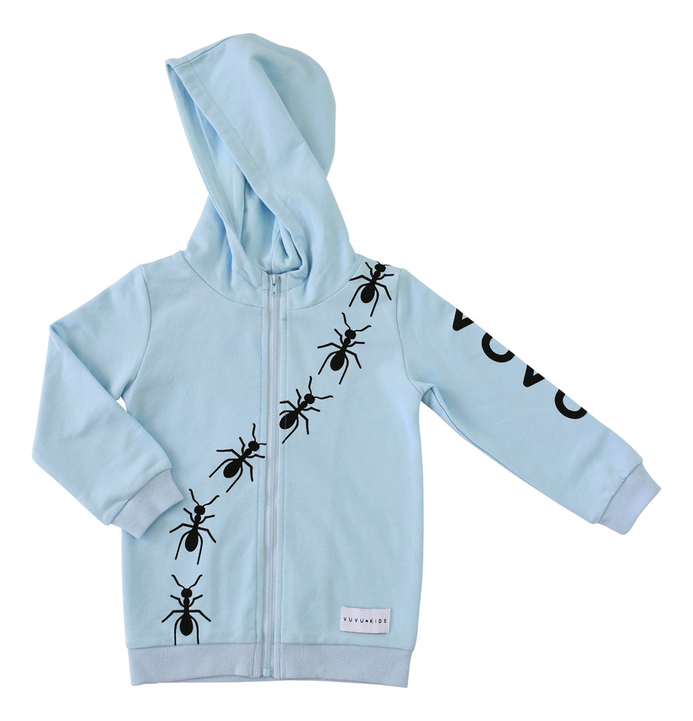 Vuvu Kids | Vuvu Kids ANTS TRAIL Blue Hoodie | Surfcoast Kids Torquay VIC