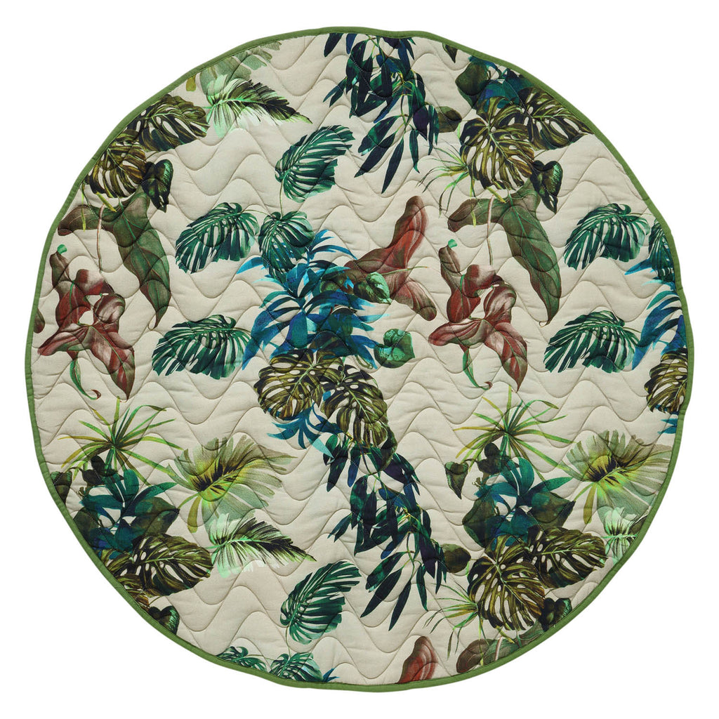 FOLIAGE QUILTED BABY PLAY MAT