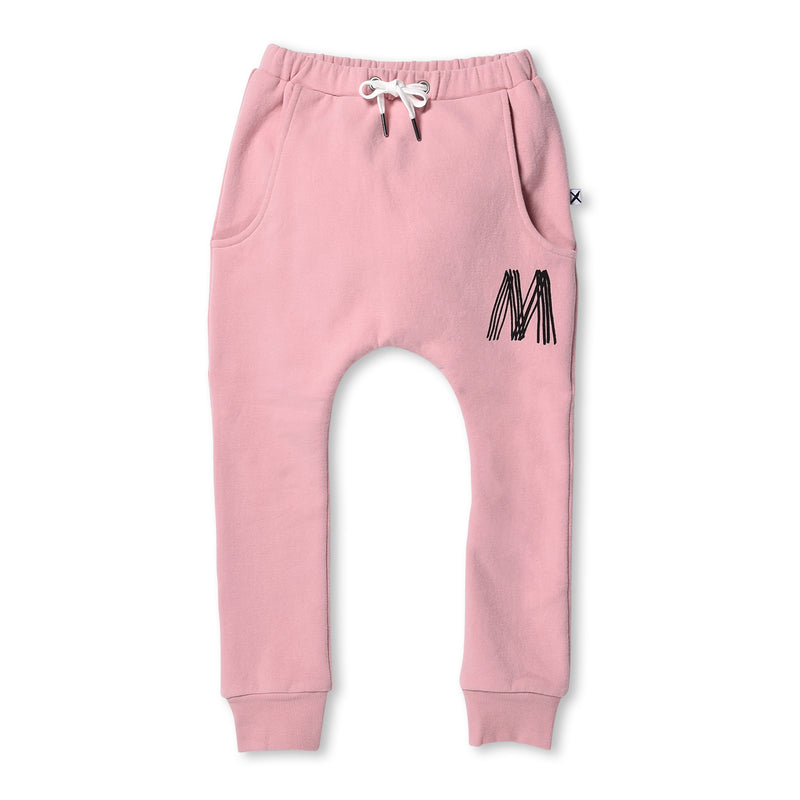 Minti- Furry Drop Trackies Muted Pink