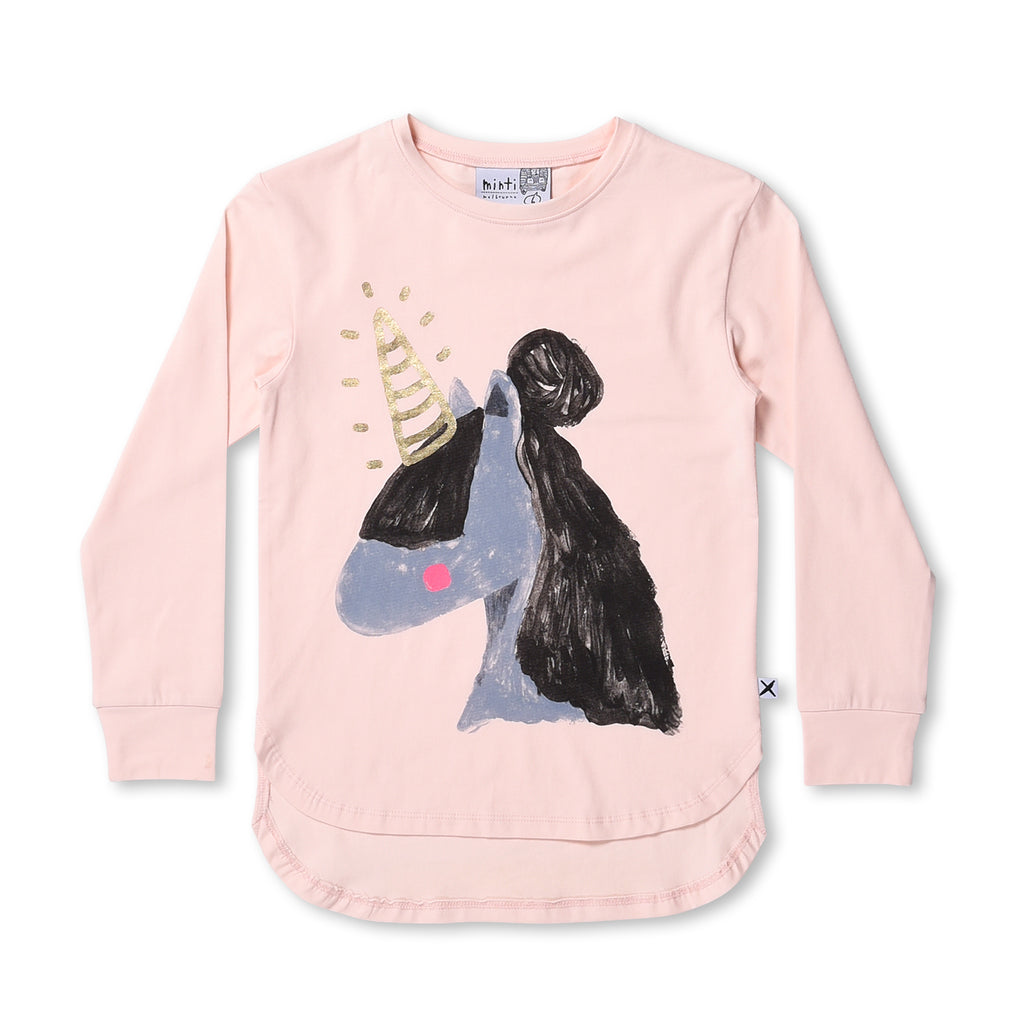 MINTI -PAINTED UNICORN TEE (BALLET)