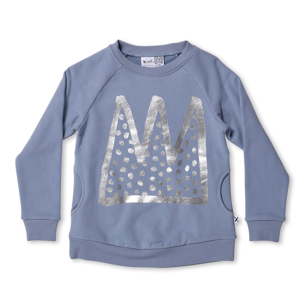 MINTI- Party Crown Furry Crew - Muted Blue