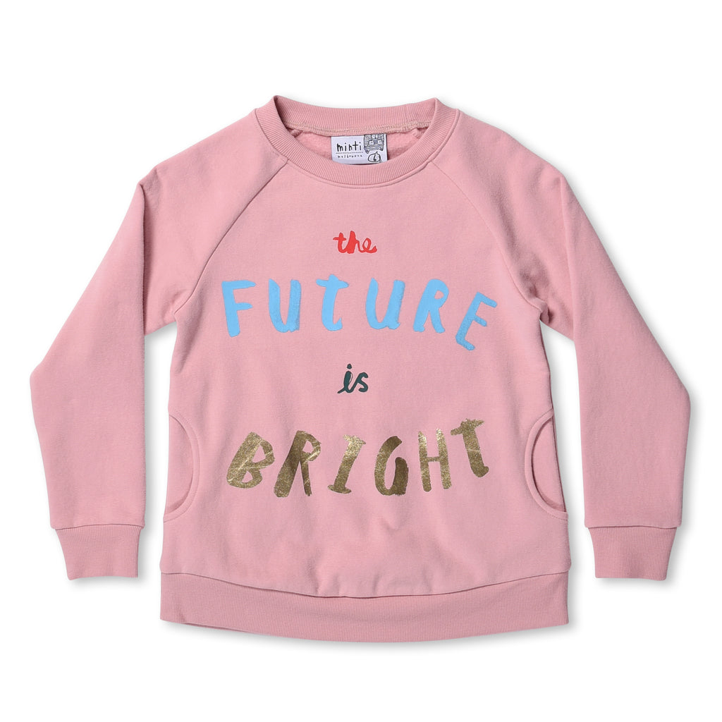 Minti- The Future Is Bright Furry Crew Jumper