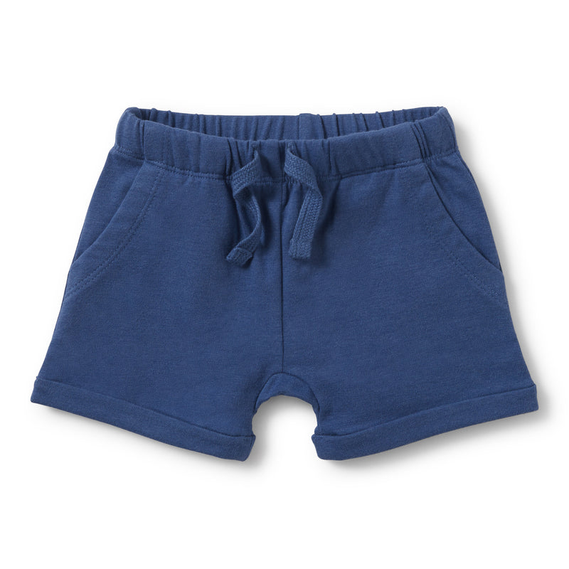 TRUE NAVY SLOUCH POCKET SHORTS