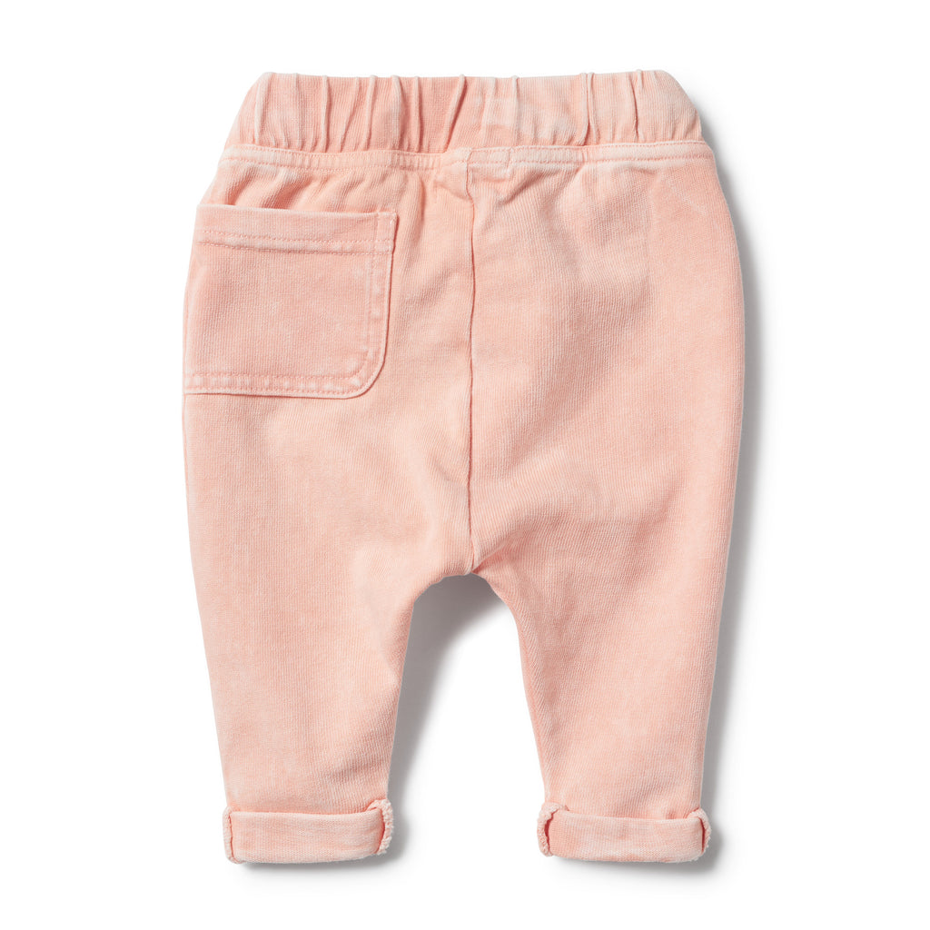 STRAWBERRY WASHED BACK SLOUCH PANT