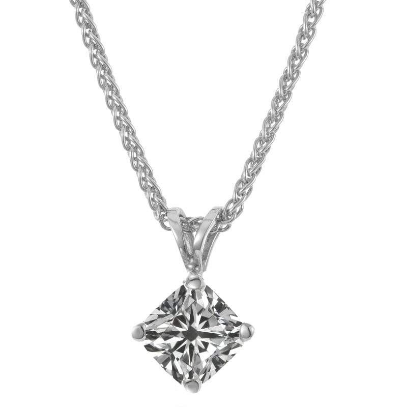 A diamond pendant on white gold necklace dianoche diamonds diamond solitaire necklace aloadofball Choice Image