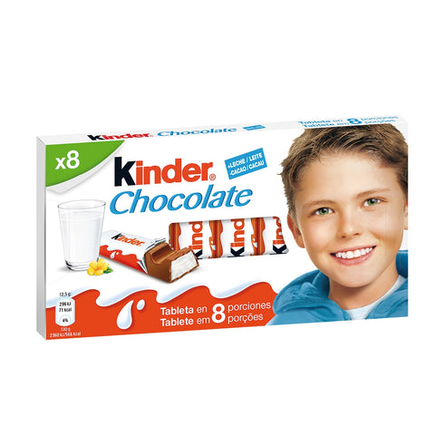 CHOCOLATE KINDER 100 G 8 U