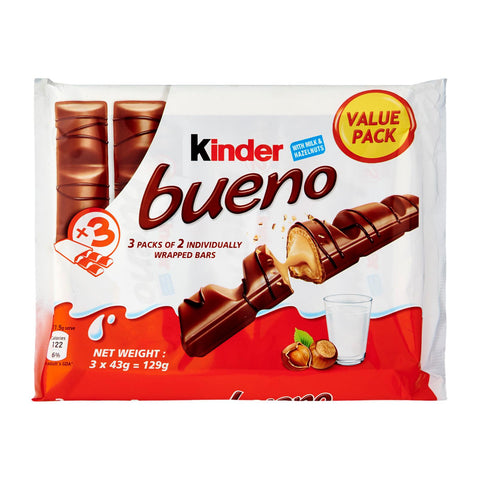 CHOCOLATE KINDER BUENO T.2 PACK-3 129 G.
