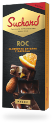 CHOCOLATE ROC DOBLE NARANJA Y ALMENDRA SUCHARD 180 G