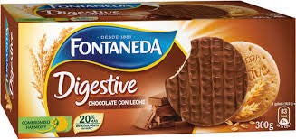 GALLETAS DIGESTIVE CHOCOLATE FONTANEDA 300 G.