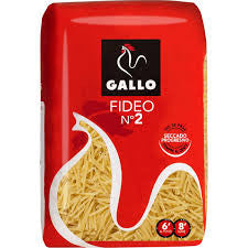 PASTAS FIDEO Nº 2 GALLO 500 g.