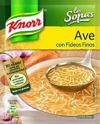 SOPAS AVE CON FIDEOS KNORR 61 G