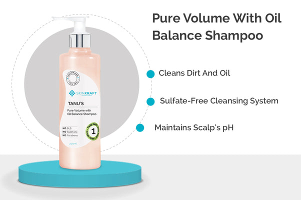 SkinKraft Pure Volume With Oil Balance Shampoo