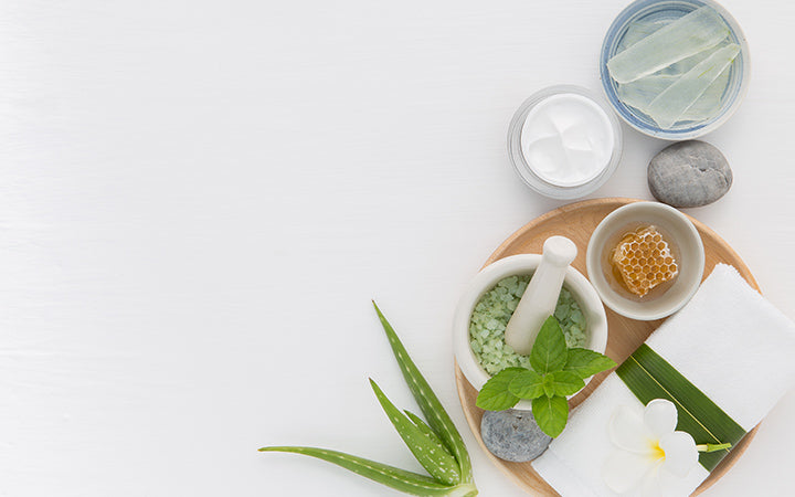 Homemade skin care and body scrub with natural ingredients