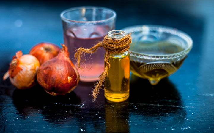Onion juice well mixed with organic olive oil It boosts hair growth