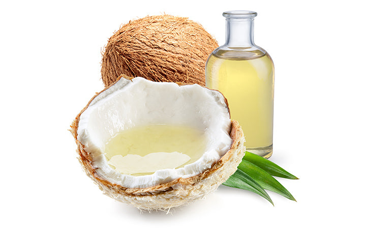 coconut oil with fresh nut