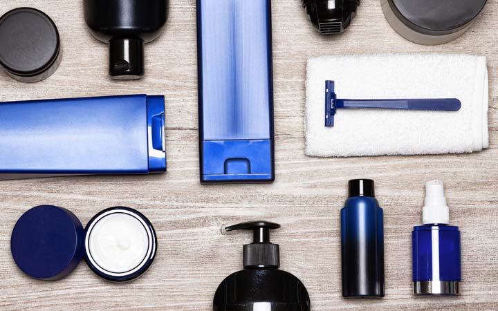 essential male grooming products and cosmetics