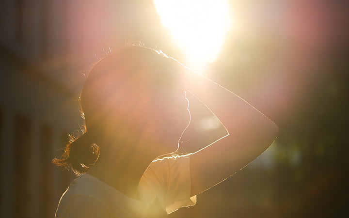 hot weather with sun flare