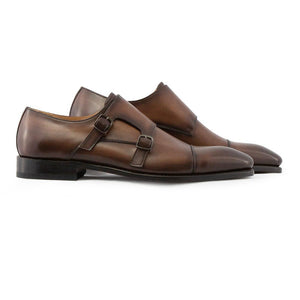 Raphael-Toe Cap Double Monk -Brown