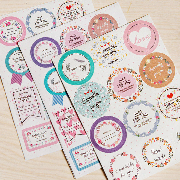 Small Label Stickers for use in gifts, as decorations and scrapbooking