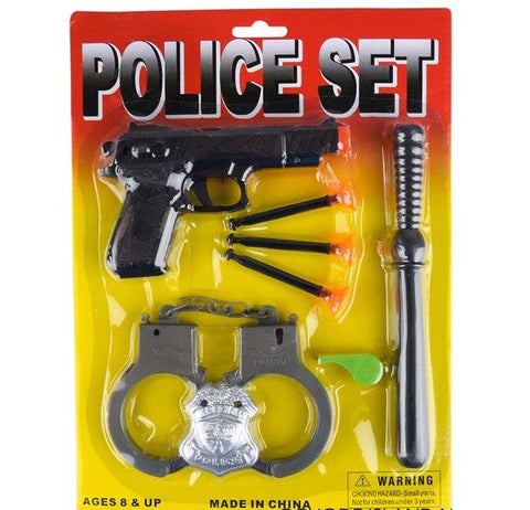 8 Piece Police Set - ShutUp! Toys