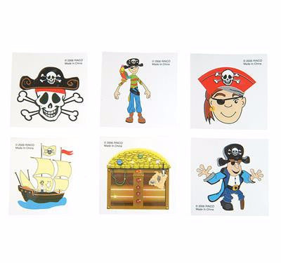 "2"" Pirate Tattoo Assortment - 144 tattoos - ShutUp! Toys"