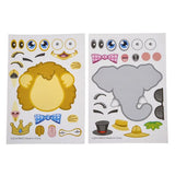 Zoo Animal Stickers, 12 sheets - ShutUp! Toys