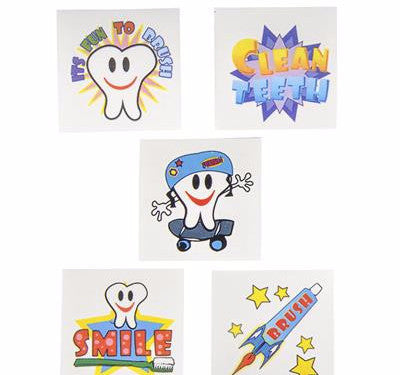 "2"" Dental Tattoo Assortment - 144 tattoos - ShutUp! Toys"