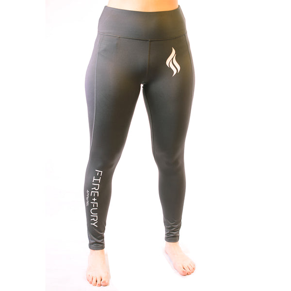 Charcoal Fire & Fury Signature Leggings