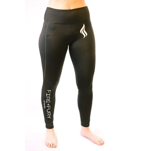 Jet Black Fire & Fury Signature Leggings