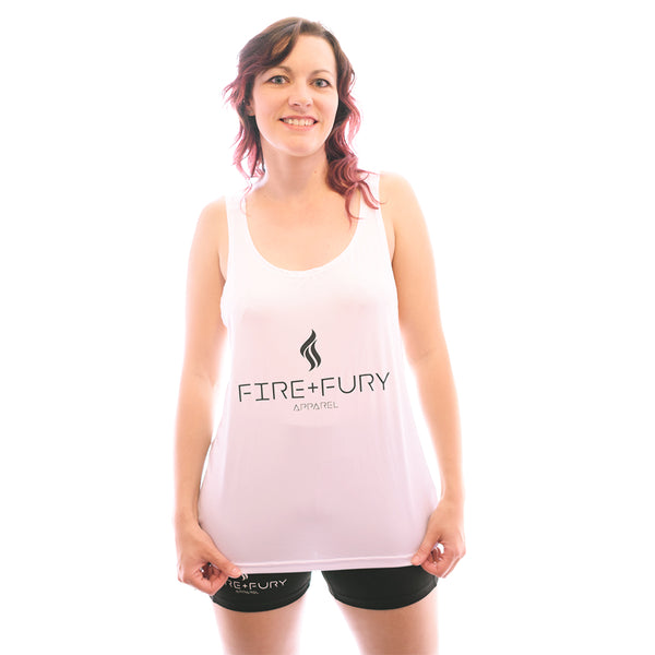 White Fire & Fury Signature Racerback Vest