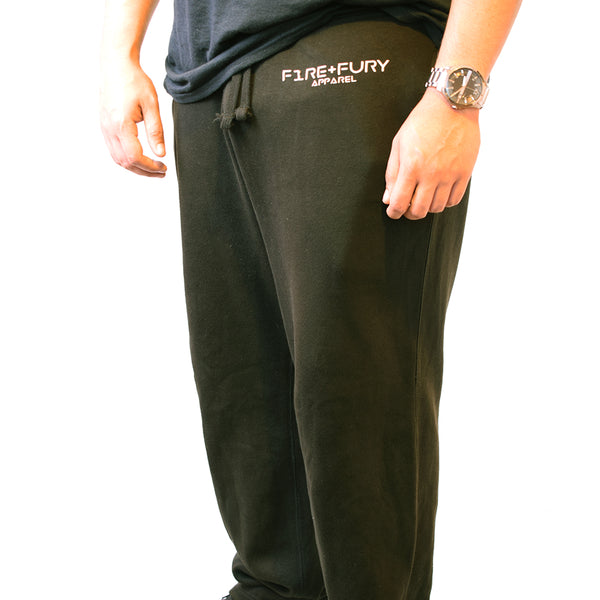 Black LIFT HEAVY Fire & Fury Heavyweight Joggers