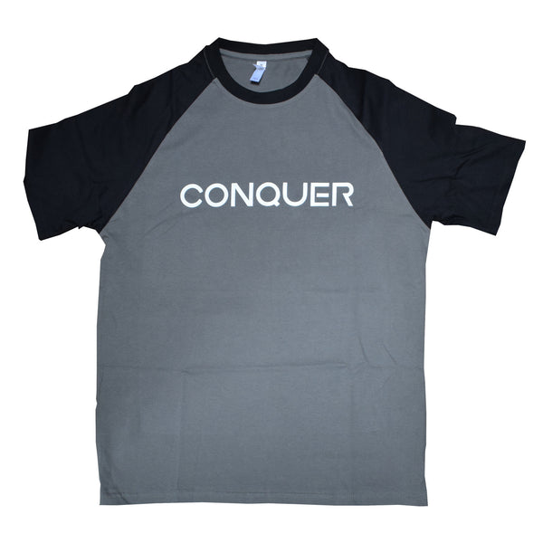 Slate Grey / Black Conquer Tee