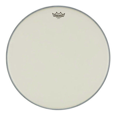 "Remo Ambassador Bassdrum Fell 20"" Coated White"