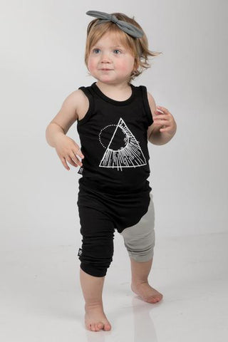 Black Onesie with a triangle print